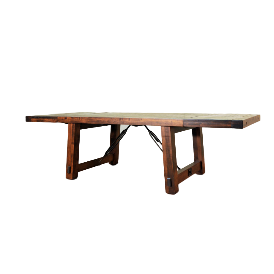 benchmark table, Dining room, table, dining table, solid wood, maple, rustic maple, made in Canada, pedestal, custom, custom furniture, benchmark