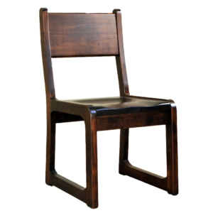 modern style brass monkey dining chair with solid wood seat