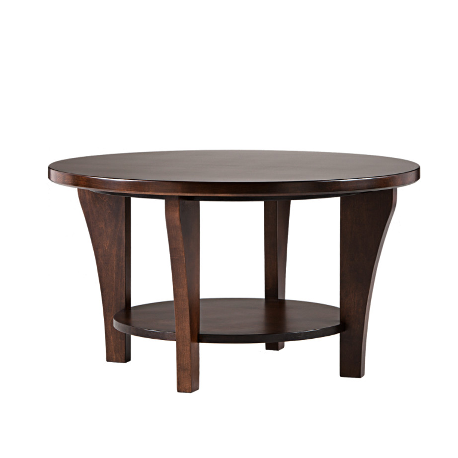 Canterbury Round coffee table, coffee table, round table, round coffee table, solid wood furniture, made in canada