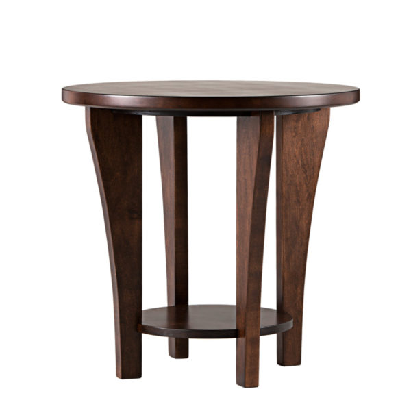 made in canada solid wood canterbury round end table