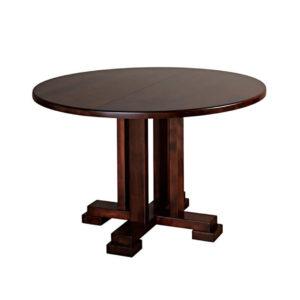 carolina round table, dining room, dining table, custom, custom furniture, custom built, solid wood, wood, solid maple, solid oak, maple, oak, extendable table, pedestal, pedestal table, round table, oval table
