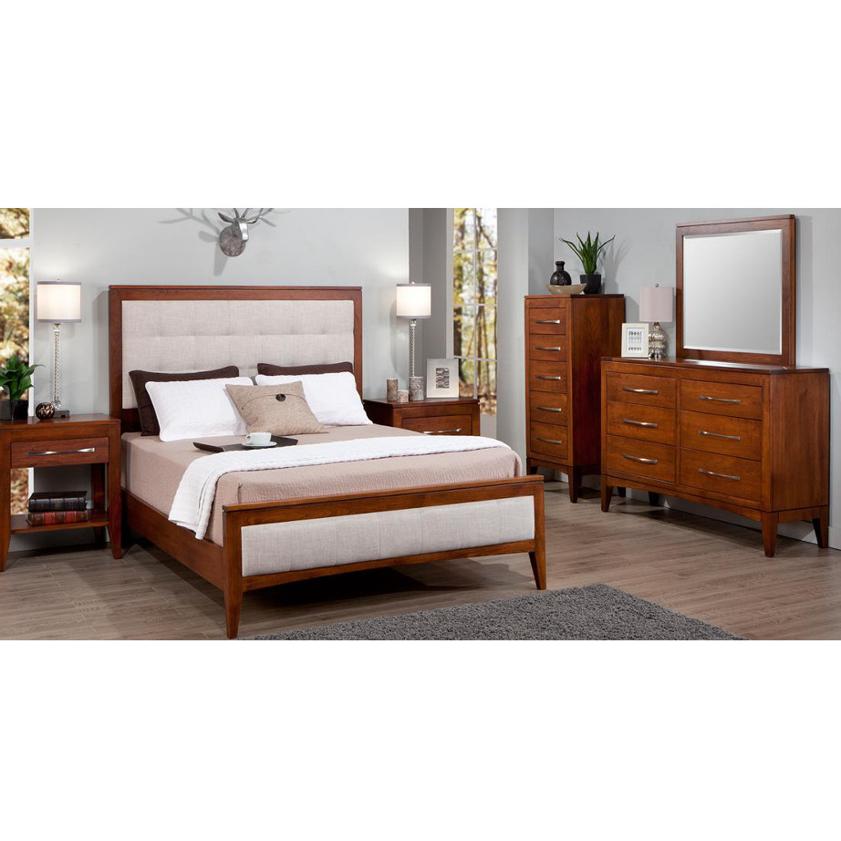 Catalina Upholstered Bed Home Envy Furnishings Solid Wood Furniture Store