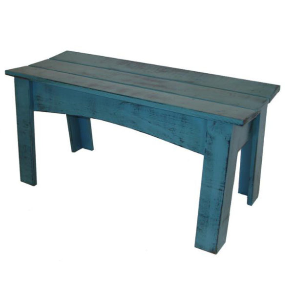 Chalet Bench, furniture, pine, solid wood, made in Canada, Canadian made, rustic, rustic look, paint, display, entry, entryway, mudroom, foyer, bench, entry bench