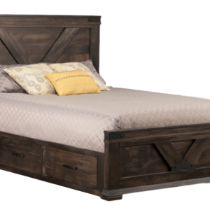chattanooga storage bed, solid wood furniture, storage bed, bed with drawers, made in canada, solid wood, rustic furniture, handstone