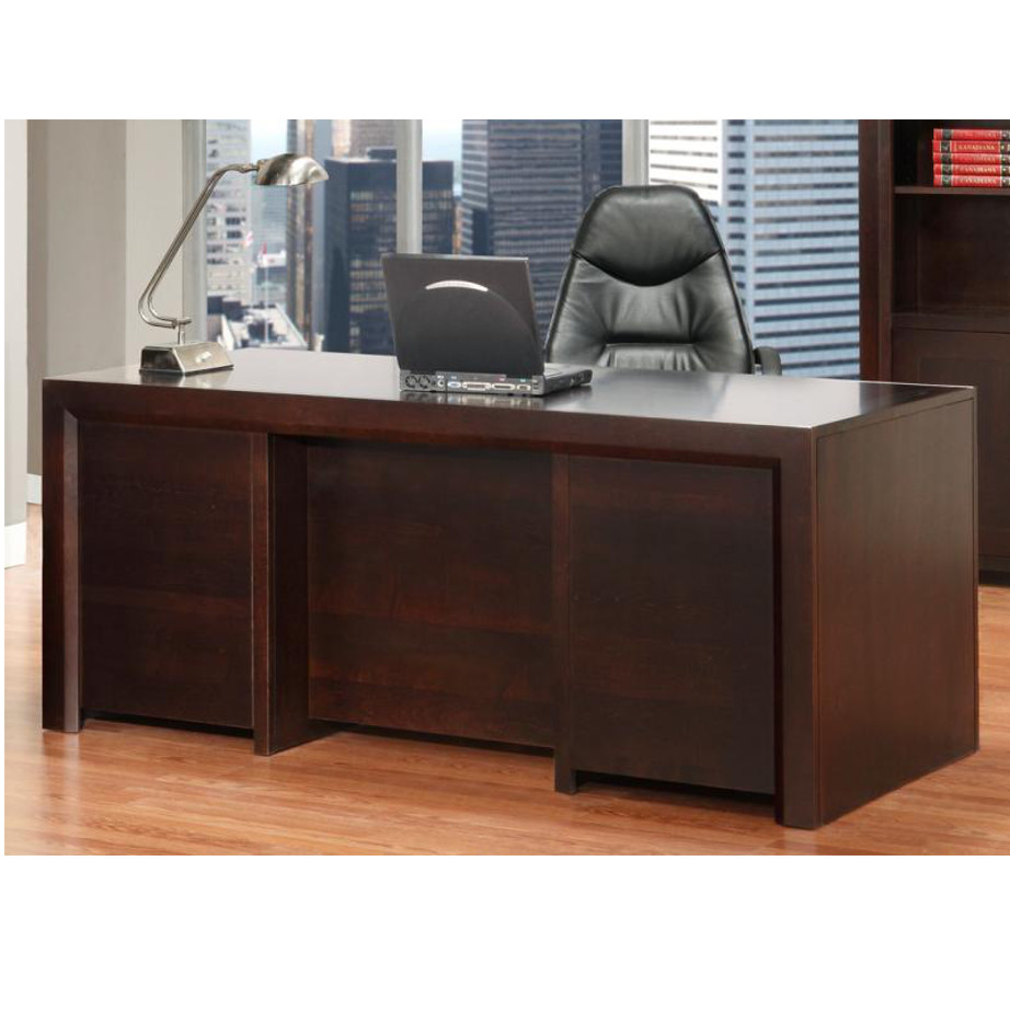 hand crafted solid wood contempo desk for home office