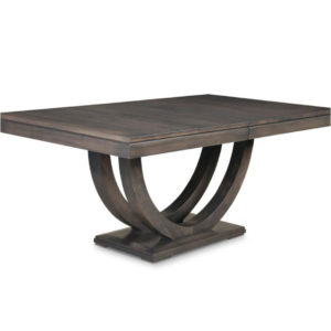 solid wood mennonite made contempo trestle table with U shaped base