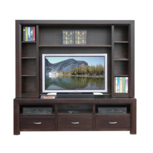 solid modern wood contempo wall unit mennonite made
