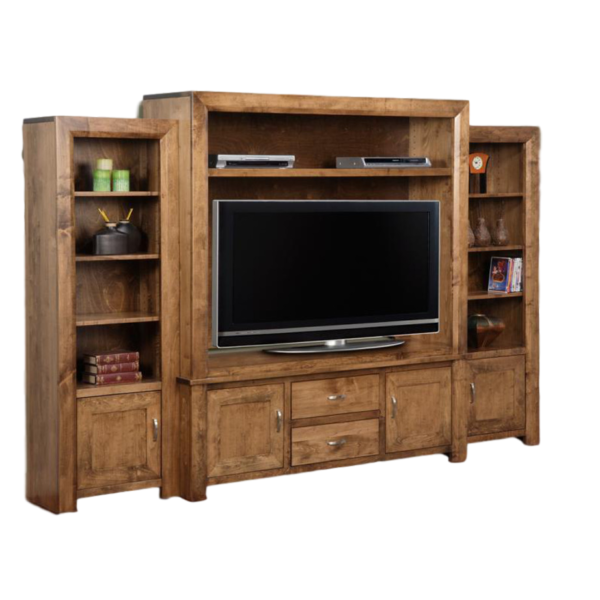 custom built in canada contempo wall unit with shelving