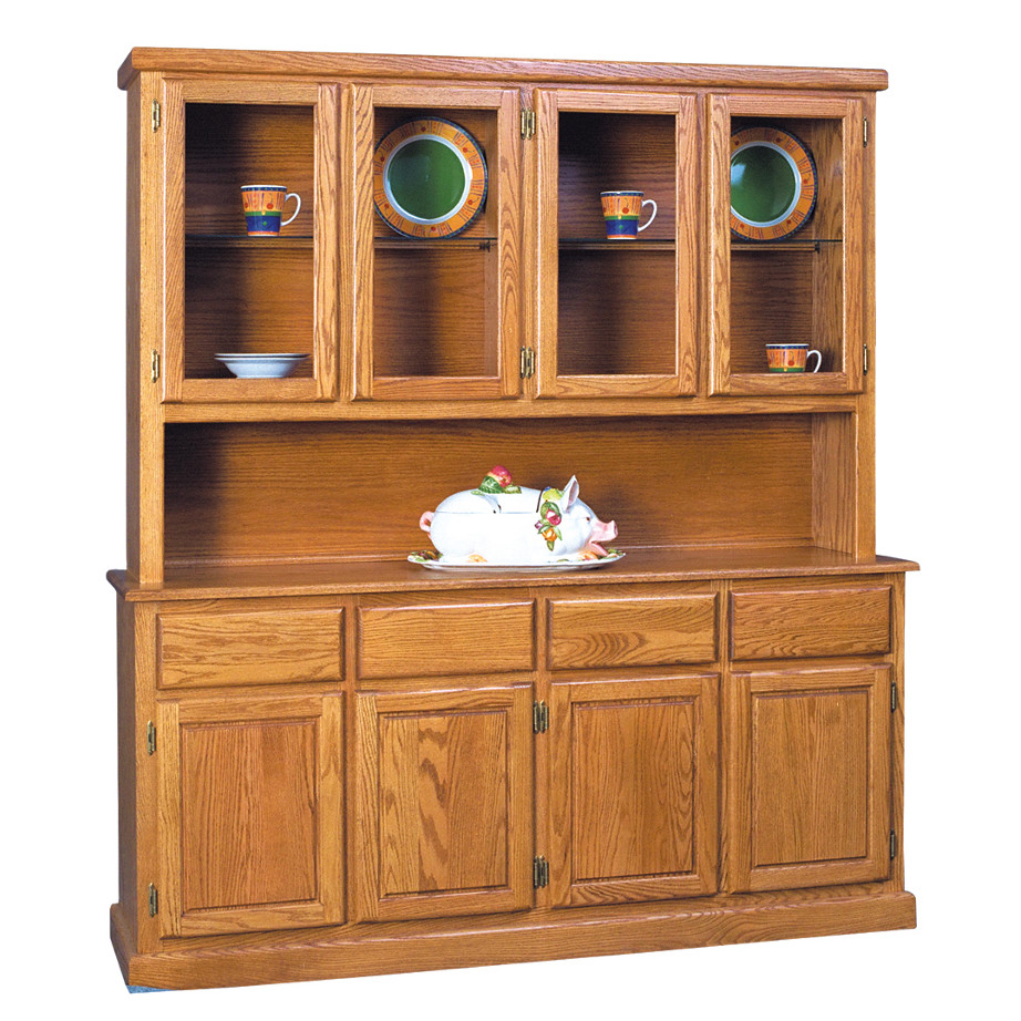 Home Envy Furnishings Solid: Contemporary 4 Door Buffet And Hutch