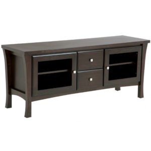canadian made solid wood crofton tv console with modern design