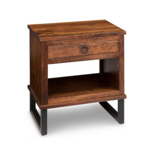 solid wood cumberland night stand with open shelf