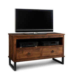 solid wood rustic finishing cumberland tv console in condo size