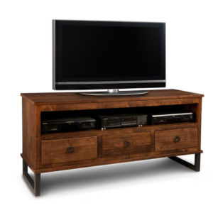 made in canada solid rustic maple cumberland tv console