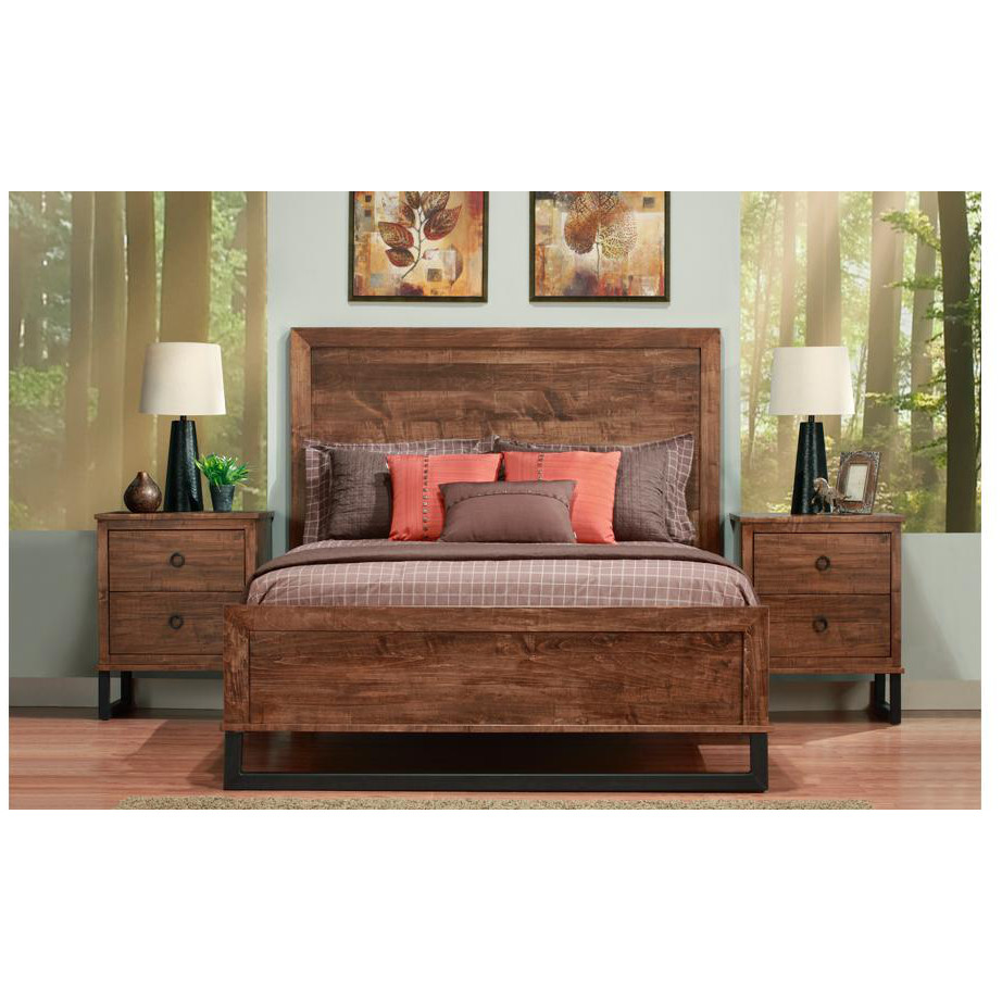 hand crafted in canada cumberland bed with night stands