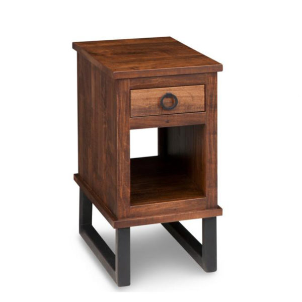 narrow width condo size cumberland solid wood end table