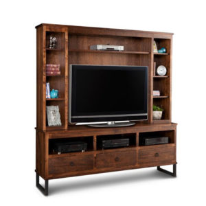rustic wood cumberland canadian made wall unit