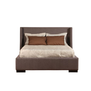 Ella Upholstered Bed, bedroom, bedroom furniture, custom, custom furniture, bed, storage bed, upholstery, upholstered bed, condo, made in Canada, Canadian made, headboard