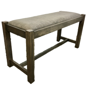 Accents, Entry Benches, entryway, fabric, hallway, made in canada, maple, oak, rustic, seating, solid wood, storage, simple, handy, light, oakridge, wood seat, upholstered, Hall Bench, front view, Hall Bench - Side View