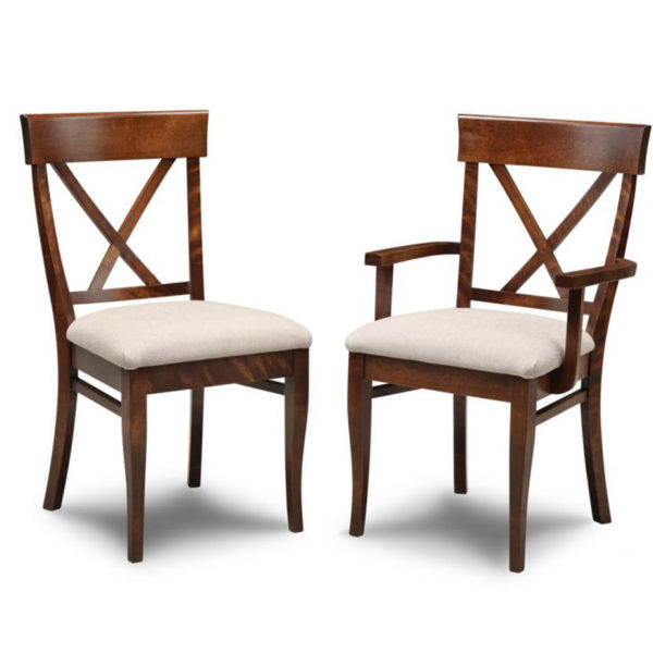 solid wood modern florence x back chair style