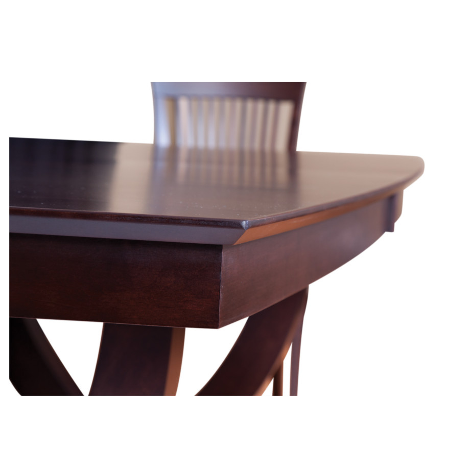 galley u base trestle table, galley trestle table, solid wood table, extension table, modern table, canadian made, made in canada