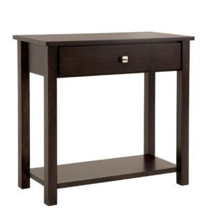 Gastown medium hall table, hall table, Gastown table, 33 hall table, hall table with drawers, made in Canada, hall table with bottom shelf