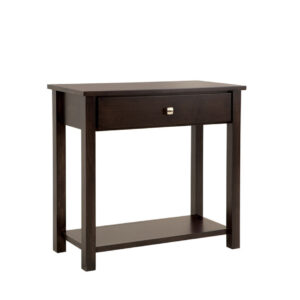 purba furniture gastown medium hall table in solid wood with modern dark finish
