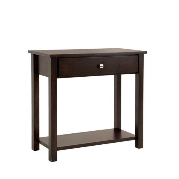 purba furniture gastown medium hall table in solid wood with modern dark finish