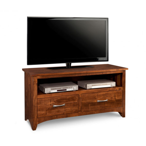 small 2 drawer size of the glen garry tv console for condo size spaces