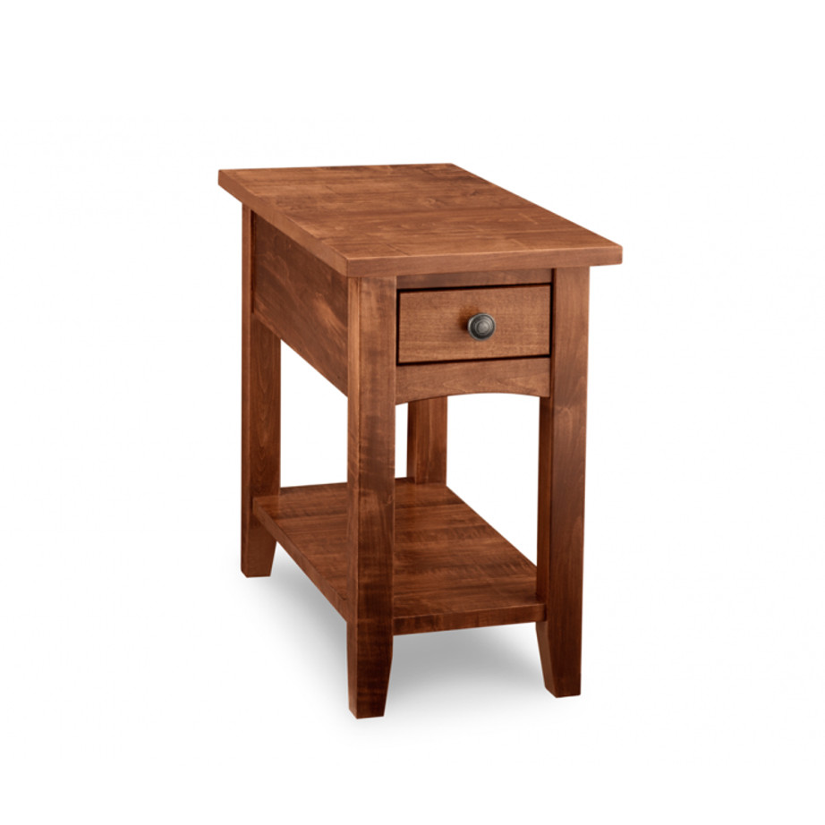 mennonite made custom narrow size glen garry chairside table