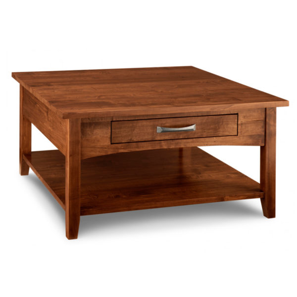 solid rustic wood square glen garry coffee table with shelf