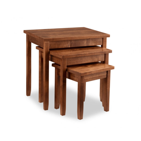 glen garry nesting tables, Living Room, Occasional, End Table, Accents, Accent Furniture, made in canada, maple, oak, rustic, side table, solid wood, living room ideas, simple, unique, custom, custom furniture, nesting table, glen garry