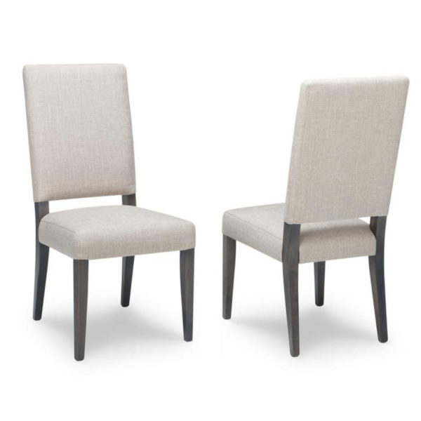 made in canada full fabric with wood frame hampton dining chair