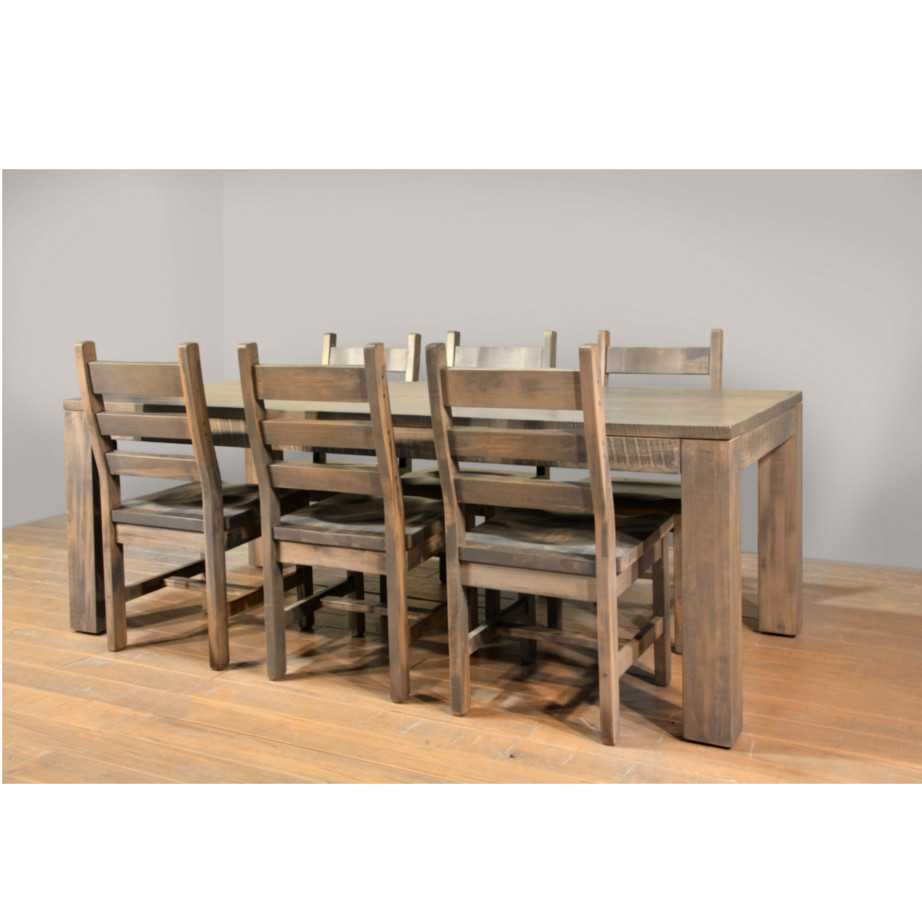 solid rustic wood heidelburg dining table with chairs