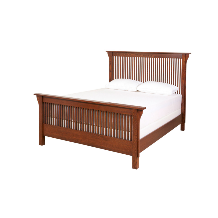 hand crafted in canada heirloom mission spindle bed