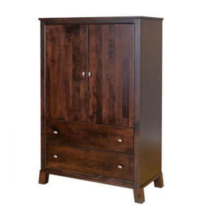 kitsilano armoire, bedroom, bedroom furniture, wood, solid wood, maple, oak, solid maple, solid oak, made in Canada, custom, custom furniture, armoire, storage ideas, bedroom storage