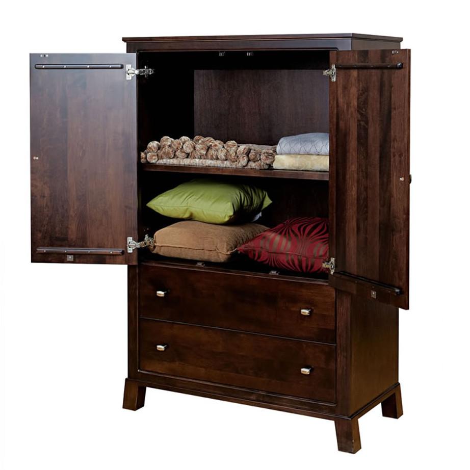 bedroom, bedroom furniture, wood, solid wood, maple, oak, solid maple, solid oak, made in Canada, custom, custom furniture, armoire, storage ideas, bedroom storage