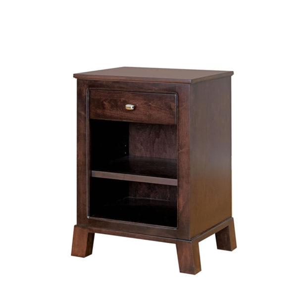 modern style kitsilano night stand with open shelf