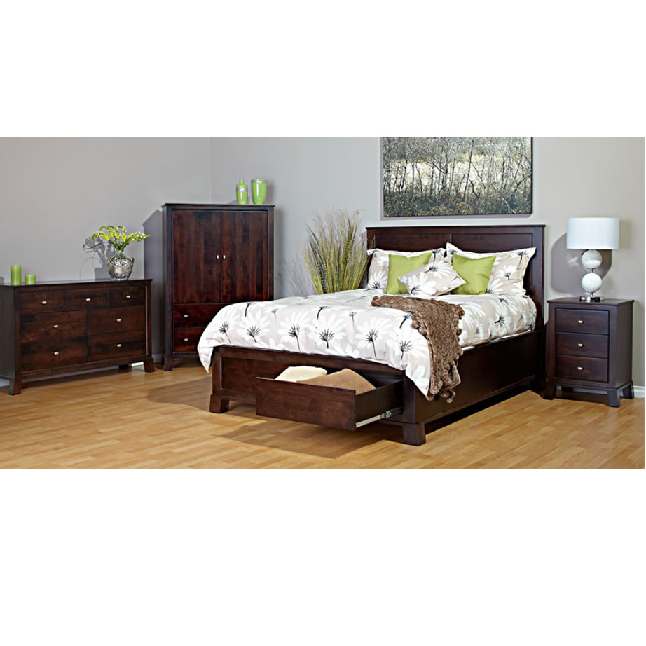 Kitsilano Bed Home Envy Furnishings Solid Wood Furniture Store