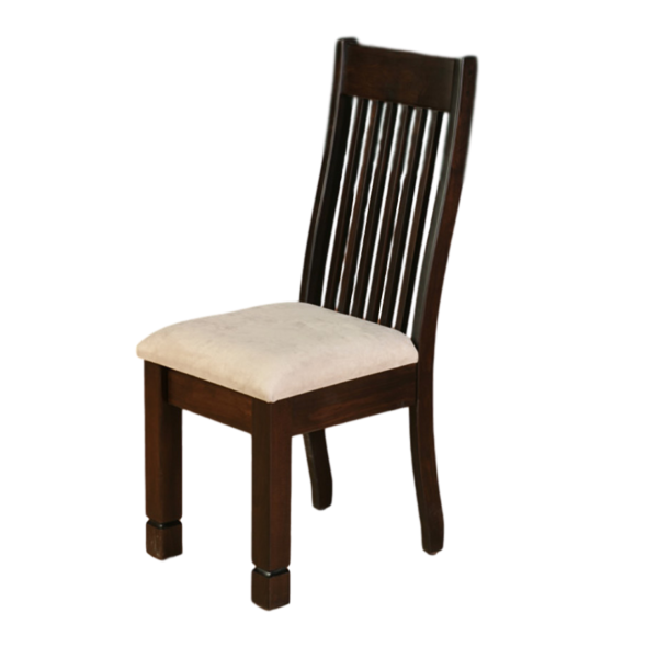 canadian made solid wood frame kona dining chair with upholstered seat