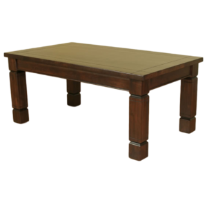 canadian made solid wood kona dining table with large legs