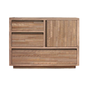 modern design solid wood ledge rock low chest of drawers