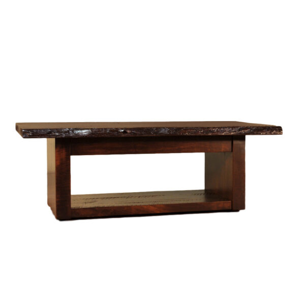 solid rustic maple live edge coffee table available with custom options