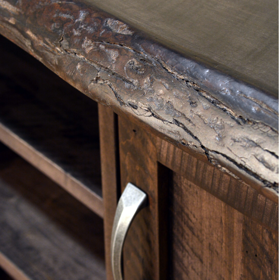 crafted in canada furniture with real bark live edge finishes