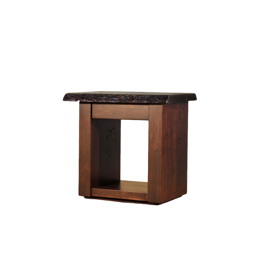 Live Edge End Table - Home Envy Furnishings: Solid Wood Furniture Store