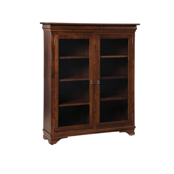 traditional hom office collection morgan office bookcase with glass doors