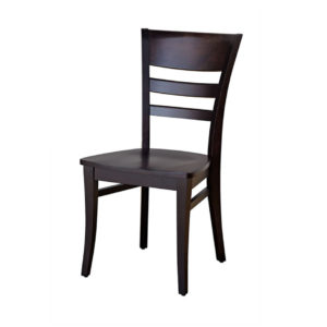 malia dining chair in solid wood with wooden seat