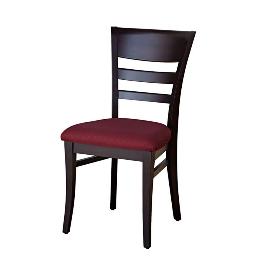 solid wood malia dining chair with fabric seat