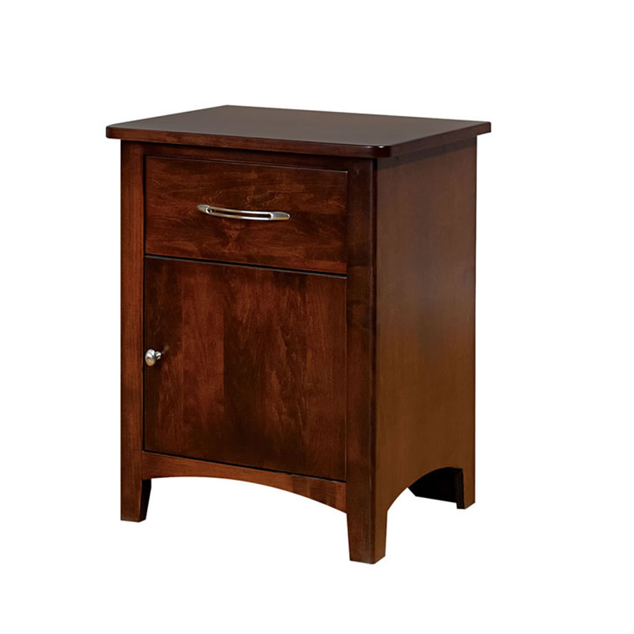 hand crafted in canada metro night stand with door