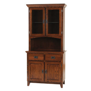 Mission 2 Door Buffet and Hutch, Dining room, dining room furniture, occasional, occasional furniture, solid wood, solid oak, solid maple, custom, custom furniture, storage, storage ideas, dining cabinet, sideboard, hutch