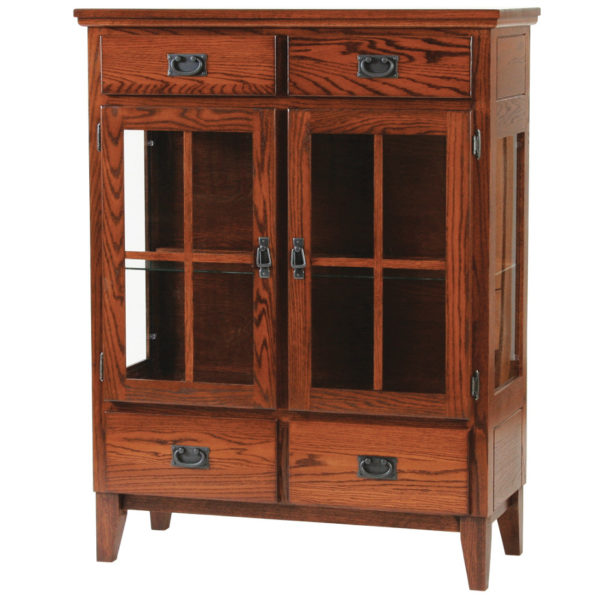 woodworks solid wood furniture mission crafted 2 door dinig chest with lattice trim doors